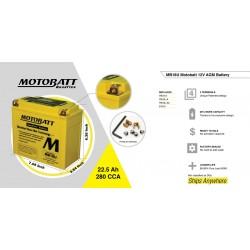 AKUMULATORS MOTOBATT 12V 22.5AH/280A